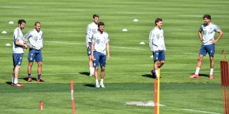 Equipes alemãs voltam aos treinos paulatinamente. AFP