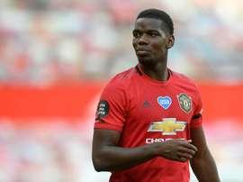 Pogba salue la belle attaque de Manchester United. AFP