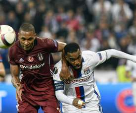 Marcelo (L) moved from Besiktas to Lyon last summer. AFP
