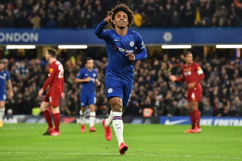 Willian suena para jugara en el Tottenham de Mou. AFP