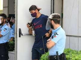 Le groupe du FC Barcelone pour le trophée Gamper. AFP