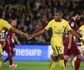 Mbappé debutó con gol. AFP
