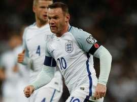 Wayne Rooney avec la sélection anglaise. AFP