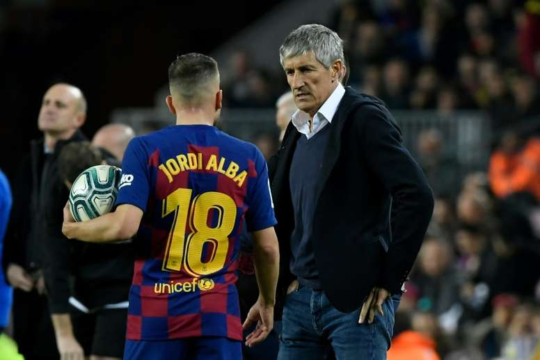 Jordi Alba se sent en pleine forme. AFP