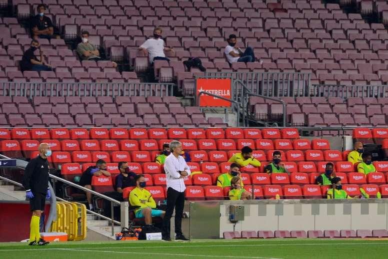 Los Mossos estuvieron en el Camp Nou. AFP