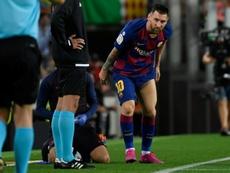 Le Barça gagne contre Villarreal 2-1 mais perd encore Messi. AFP