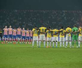The Indian Super League final will take place behind closed doors. AFP