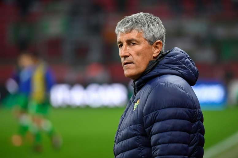 Setien: The latest name linked to Old Trafford. AFP