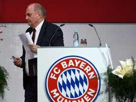 Bayern de Munique se despede de Uli Hoeness. AFP