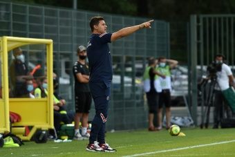 Pochettino volvió a hablar sobre Messi. AFP
