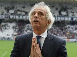 Vahid Halilhodzic, lors du match de L1 à Bordeaux. AFP