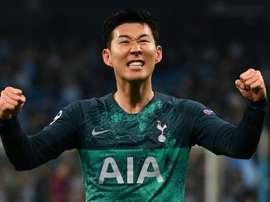 Los mejores goles de Son, la gran esperanza ante el Ajax. AFP