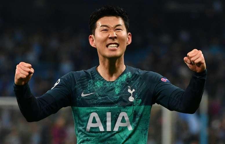Son reconoció que sería doloroso perder la final de la Champions. AFP