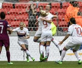 Bronze, seule joueuse à participer au score. AFP