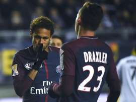 PSG denied there was a fight between Draxler and Neymar. AFP