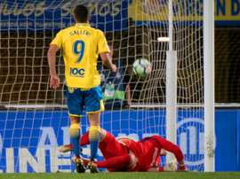 Calleri's penalty brought Las Palmas level. AFP