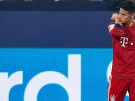 James, descontento en el Bayern. AFP