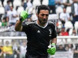 Buffon volta a ser titular pela Juve. AFP