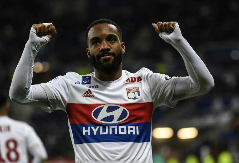 Lacazette estuvo a punto de fichar por el Atleti cuando aún jugaba en Francia. AFP