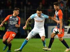 Les compos probables du match de Ligue 1 entre Marseille et Montpellier. AFP
