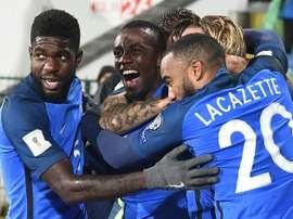 França soma e segue na qualificação para o Mundial'2018. AFP