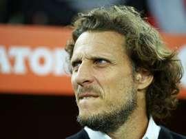 Diego Forlan n'est plus l'entraîneur de Peñarol. AFP