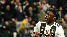 Kean podría renovar con la Juventus hasta 2024. AFP