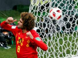 Fellaini defendió en 87 ocasiones la camiseta de Bélgica. AFP/Archivo