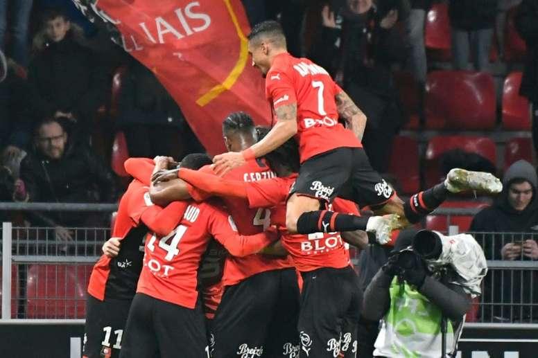 Rennes revient dans le quatuor de tête. AFP