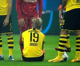 Brandt desfalca o Borussia Dortmund. AFP