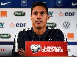Varane et Deschamps étaient en conférence de presse. AFP