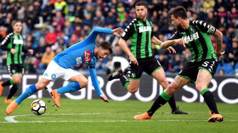 Mertens perdió el olfato goleador en los últimos meses. AFP