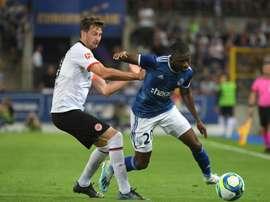 Les compos officielles du match de barrages d'Europa League entre Francfort et Strasbourg. AFP