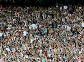 Des supporters iraniens lors du match face à la Syrie de qualification de la Coupe du monde. AFP
