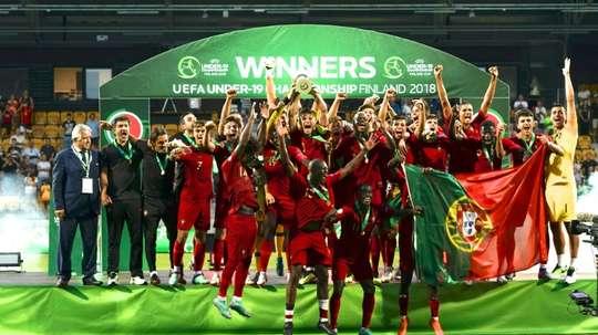 Euro-U19: le Portugal champion d'Europe face à l'Italie. AFP