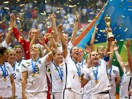 Les Américaines, sacrées championnes du monde à Vancouver au Canada. AFP
