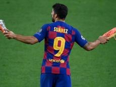 Les adieux de Suarez. AFP