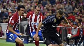 Benzema analizó su gran jugada en el pasado Atlético-Madrid de Champions. AFP