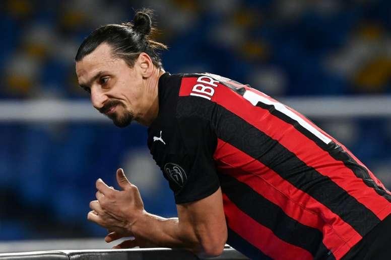 Zlatan Ibrahimovic is injured. AFP