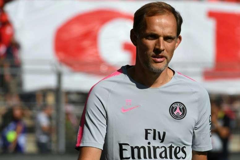 Thomas Tuchel avant le match contre Nîmes. AFP