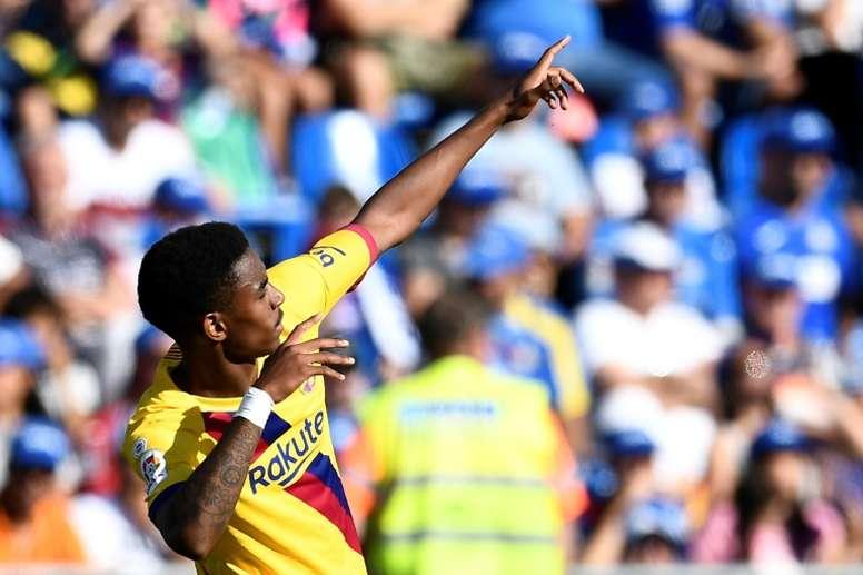 Le Barça ne trouve pas de destination pour Junior Firpo. AFP