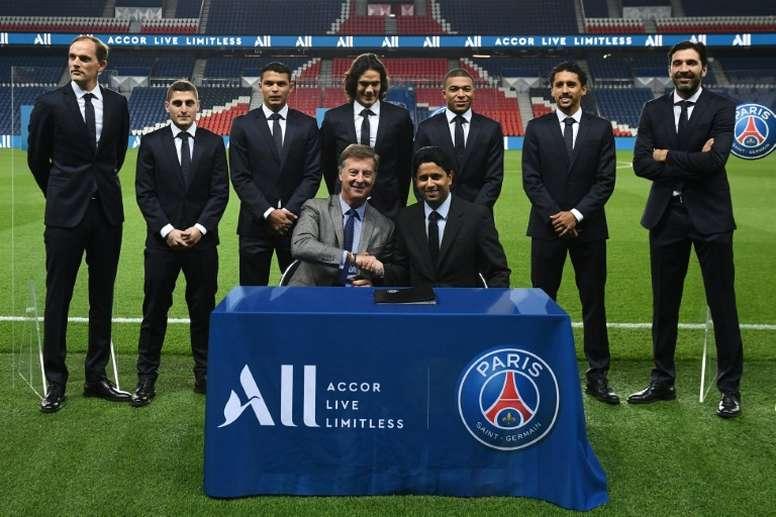 Le Paris SG troisième masse salariale d'Europe, selon l'UEFA. AFP