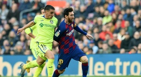 El Barça le gana al Getafe. AFP
