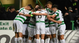 Celtic players will not be afforded a night of celebration should they win the League Cup. AFP