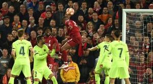 L'élimination du Barça à Anfield est la vidéo la plus vue au Royaume-Uni. AFP