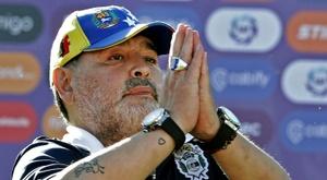 Diego Maradona n'est plus l'entraîneur du Gimnasia La Plata. AFP