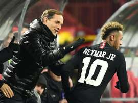 Neymar is Tuchel's last hope in the Champions League. AFP