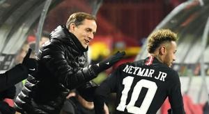 Neymar não estará presente na segunda partida do PSG pelo Campeonato Francês. AFP