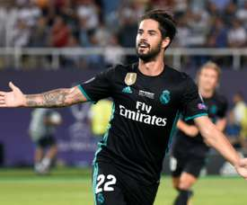 Isco wanted to talk about Raúl García. AFP