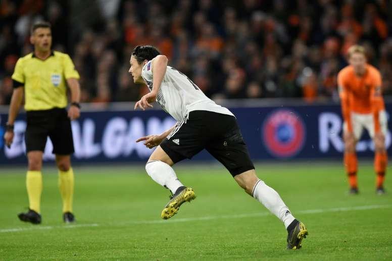 Nico Schulz marcó el gol de la victoria ante Holanda. AFP